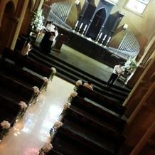 挙式会場を上から撮影