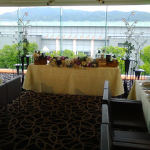 会食会場からの外の眺め