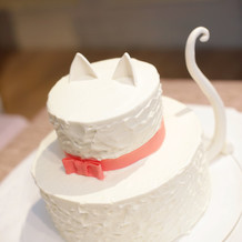 猫のウェディングケーキ