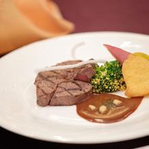 和食婚礼料理・肉料理・ソースはお味噌