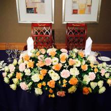 メイン装花の例