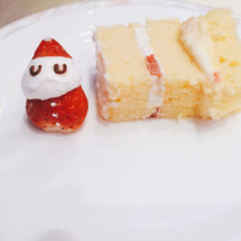 ケーキも式場もクリスマスで可愛かった。