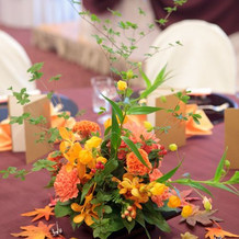 披露宴会場・テーブル装花