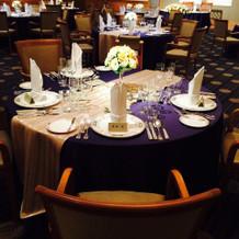 2階の会場のテーブル例