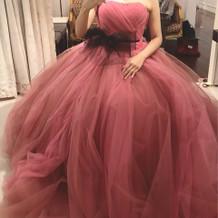 お色直しのカラードレスです。
