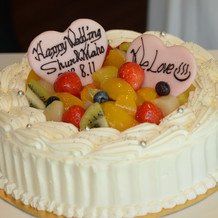 人数に合わせ丸いケーキに