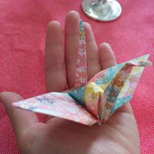 各テーブルで、折鶴を引きます。