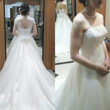 ドレスは2wayの物を選びました。