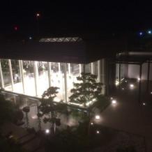 式終了後控え室から撮影した式場の写真