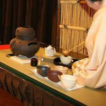 お茶をゲストにふるまいました。