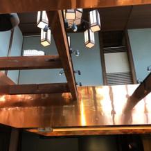 披露宴会場の天井です。