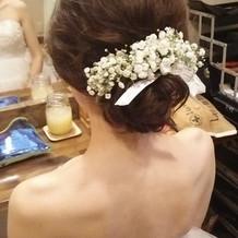 理想通りの髪飾り