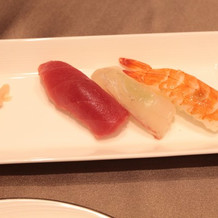 お寿司もおいしかったようです。