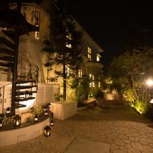 夜のレイン邸です。