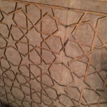 シガールームの星型の壁
