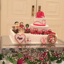 カープのウェディングケーキ!