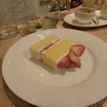 ケーキはごく普通