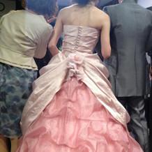 提携のカラードレス