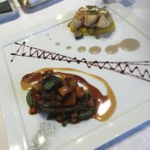 フォアグラとホタテ料理