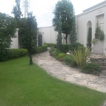 ガーデンの緑がきれい