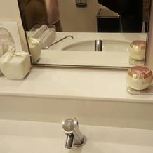 化粧室もとても綺麗です!