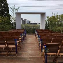 ガーデン挙式会場