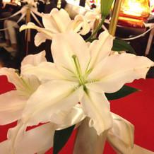 チャペルの生花