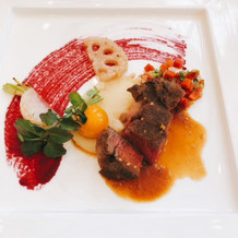 肉料理:黒毛和牛のヒレ肉