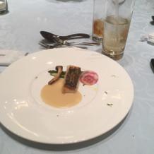 真鯛のポワレ カボスのヴァンブランソース