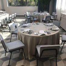 ソラニワのテーブル雰囲気