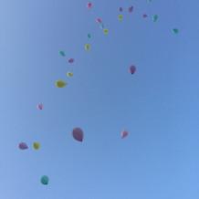 ドロップ&フライ 空高く風船が飛びました