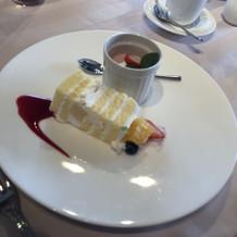 ケーキまデザートも美味しい