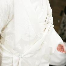 挙式で着用した白無垢です