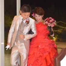 バレンタインということで真っ赤なドレス