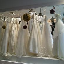 オプション料金のドレスです。