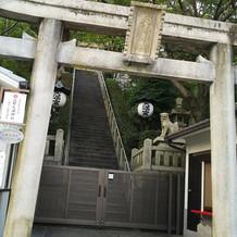 神前式の会場、北野天満神社