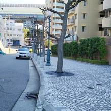舞子ホテル前の坂道