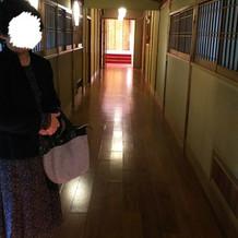 式場までの廊下