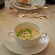 ジャガイモのスープも絶品です