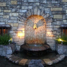 お庭側にある噴水