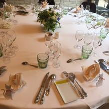綺麗なテーブル装飾