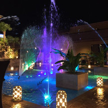 内庭の噴水
