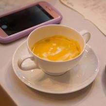 かぼちゃのスープは絶品のようです!