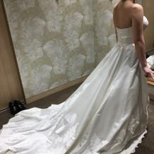 ランクアップのドレス 刺繍が素敵でした