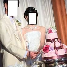 模擬結婚式:ケーキカット