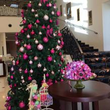 クリスマスツリーがありました