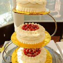 ケーキカット用のケーキ