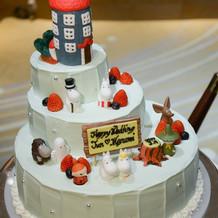 大好きなムーミンのオリジナルケーキです!