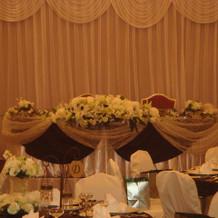 披露宴会場の雛壇