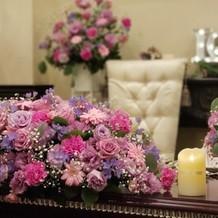 お気に入りの装花です。